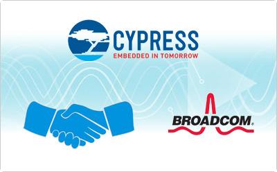 Cypress以5.5亿美元现金收购博通的无线物联网业务